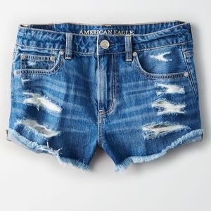 American Eagle Tomgirl Distressed Shorts
